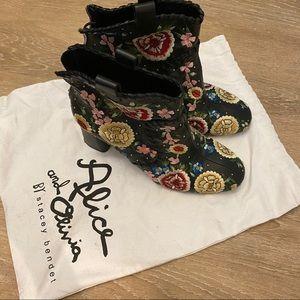 Alice and Olivia Designer Floral Boots